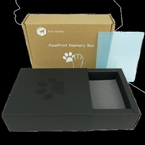 Kira Gates PawPrint Memories Pfotenabdruck Schaum ohne Farbe einfach sauber Geschenkidee Katze Hund Pfotenabdruckbox