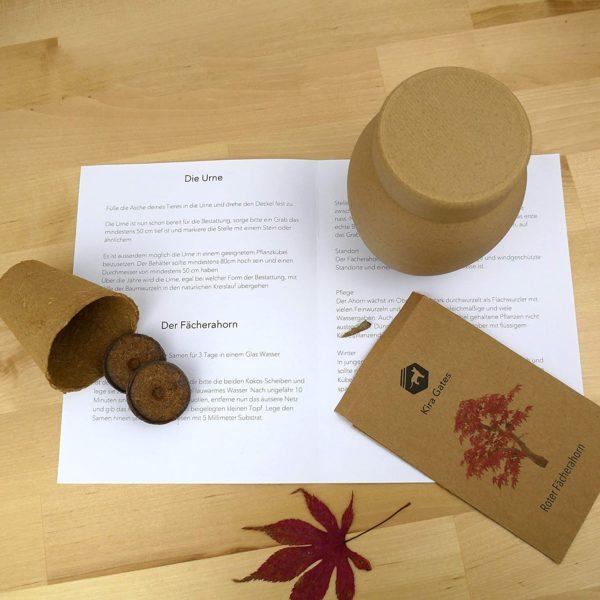 Tierurne Holz Bio öko Erdbestattung biologisch abbaubar Holzurne Katzenurne Hundeurne